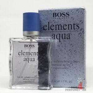 Details about Boss Elements Aqua by Hugo Boss 3.4 oz 100 ml Eau De Toilette  Rare!! (Box Old)