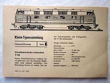 DDR Kleine Typensammlung Schienenfahrzeuge - Dieselhydraulische Lokomotive V 240