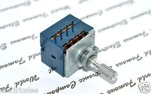 1pcs - ALPS RK27 20KA Volume Dual Potentiometer knurled - JAPAN RK27112A008TA