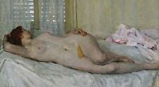 "oil painting handpainted on canvas ""a naked woman lying on the bed""@NO5366"