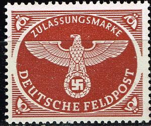 Image Is Loading Germany WW2 Swastika Eagle Stamp 1943 MNH