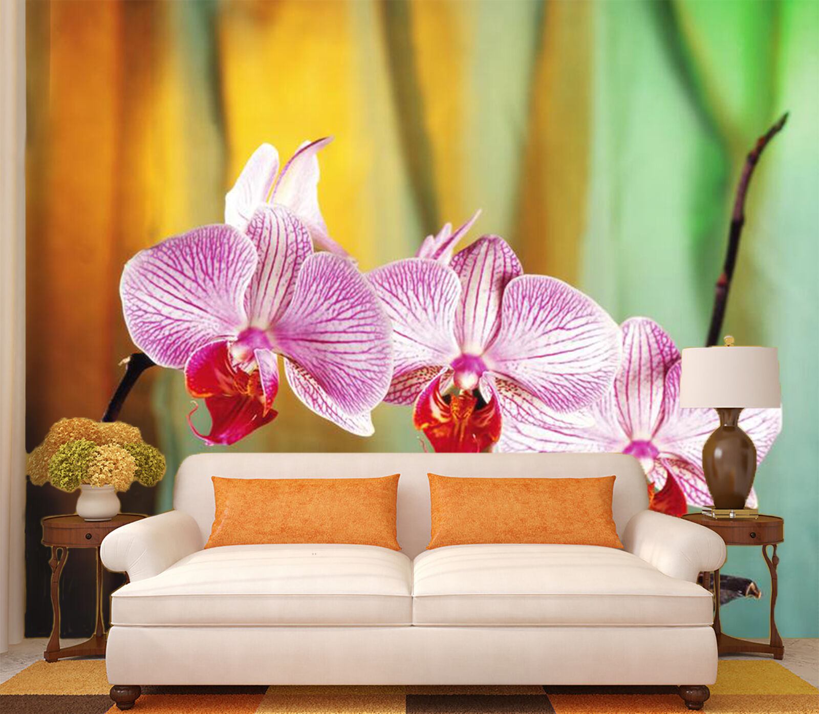3D flower butterfly fresh Wall Paper Print Decal Wall Deco Indoor wall Mural