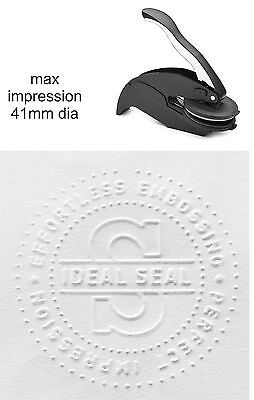 Personalised/Customised embossing rubber stamp press/seal/plier 83719 41mm dia