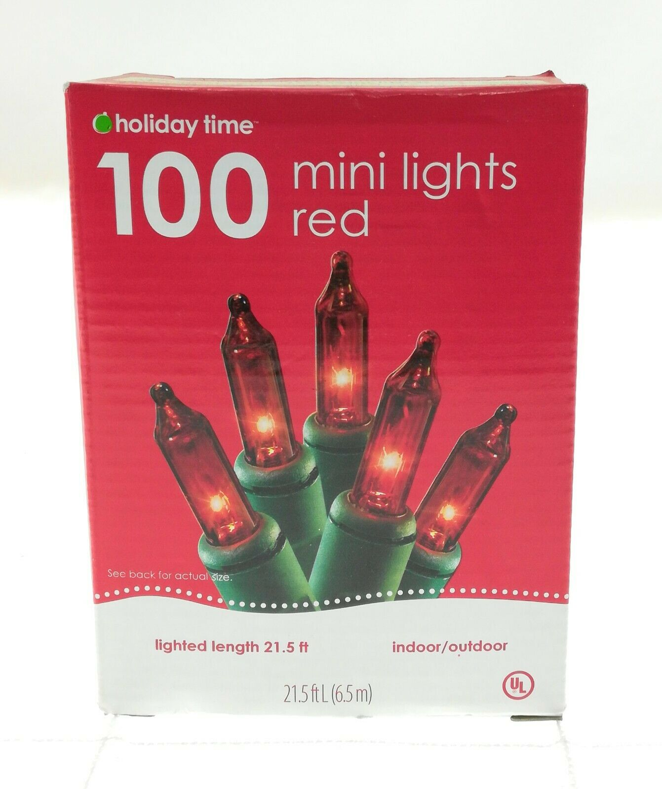 Details about  /New Box Holiday Time 100 Count Multi-Color Mini Christmas Lights Green Wire