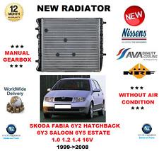 für Skoda Fabia 6Y2 6Y3 6Y5 1.0 1.2 1.4 16V 1999- > 2008 NEU Kühler OE-Qualität