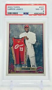 Lebron-James-2003-Topps-Rookie-Card-221-PSA-8-Near-Mint-Mint-Lakers