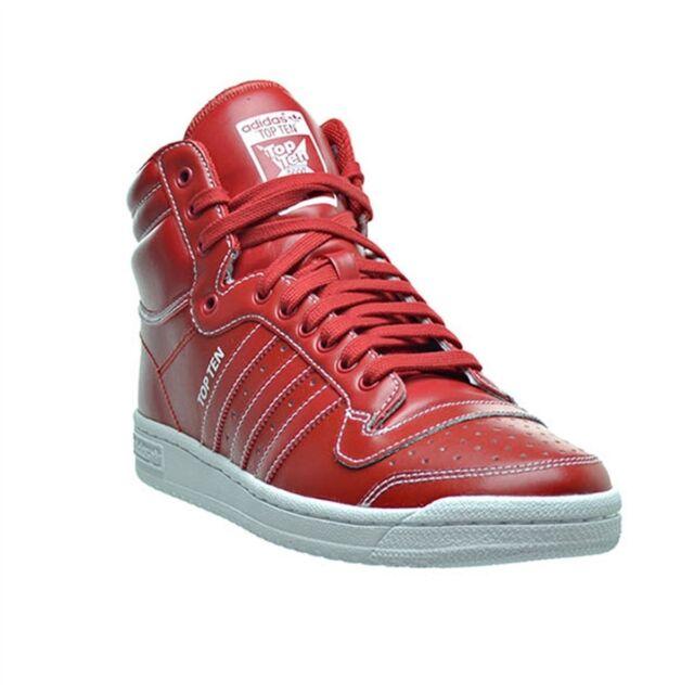 f925f8ef06b Adidas Originals Boys Kids Top Ten Hi Old School Retro Sneakers Red Shoes  NEW