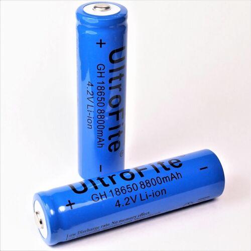 6 x GH 8800 mAh Ultro Fite 18650 Li 4,2 V blau Lithium Ionen Akku ion