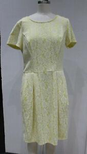 New-129-Women-039-s-L-Robert-Rodriguez-Skye-Bonded-Lace-Dress-Sunflower-Yellow