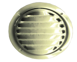 126mm STAINLESS STEEL MARINE ROUND TRANSOME AIR VENT boat yacht caravan fridge