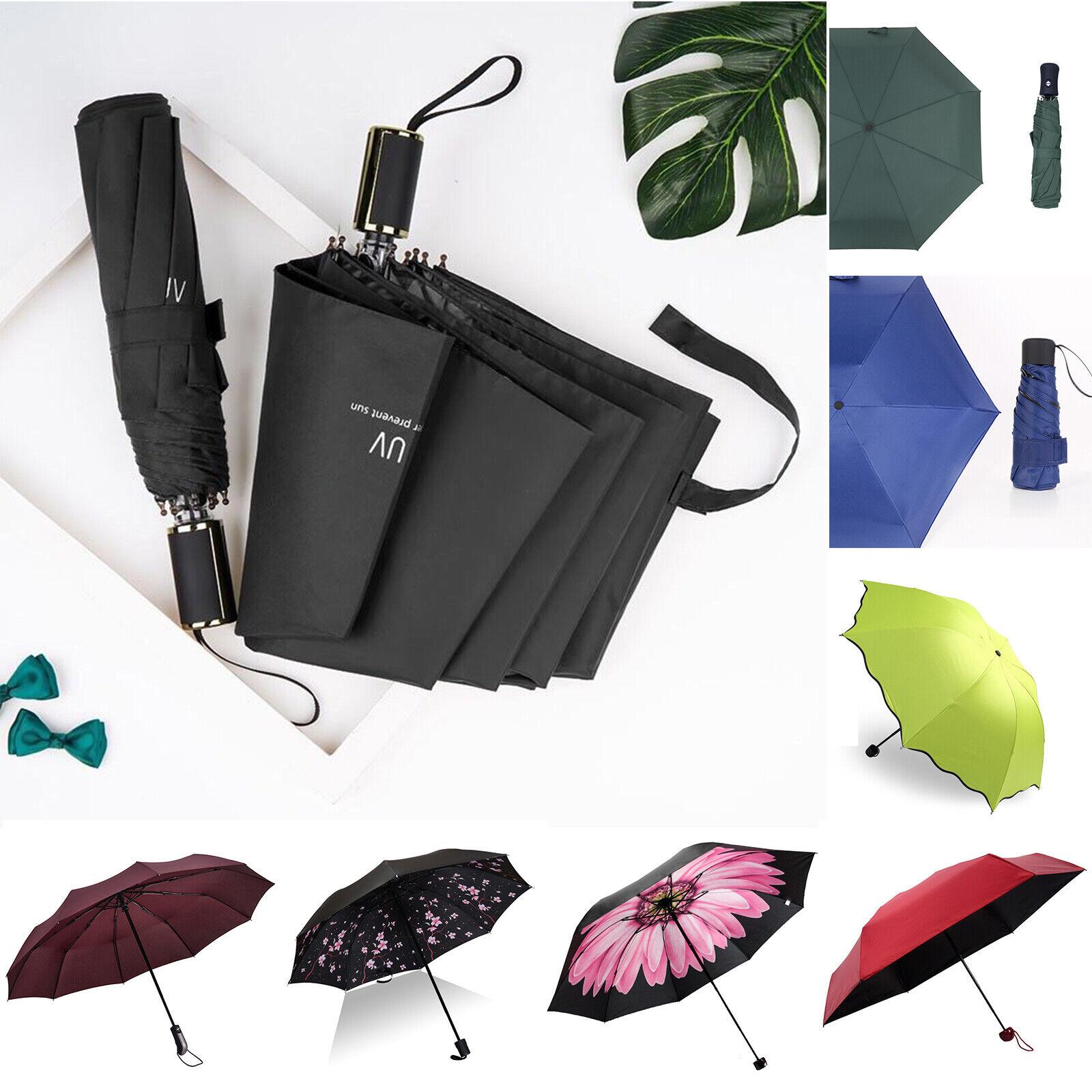 Automatic Umbrella Anti-UV Sun/Rain Windproof 3 Folding Compact Umbrella Outdoor