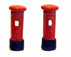 2-Pillar-Boxes-Post-Boxes-A12p-PAINTED-N-Gauge-Scale-Langley-Models-Kit-1-148