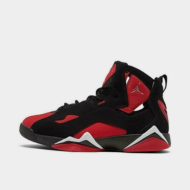 Size 11 - Jordan True Flight Black University Red