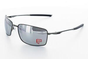 c58981c111 Image is loading NEW-Oakley-POLARIZED-Square-Wire-Carbon-Chrome-Iridium-