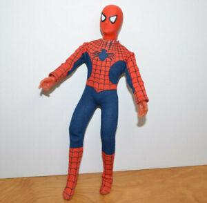 """Vintage Mego 12"""" Spiderman Action Figur Puppe 1977 gebrochenes Bein schön Anzug Marvel"""