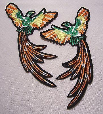 Ecusson thermocollant brodé patche Phoenix Paon oiseau patch oiseau