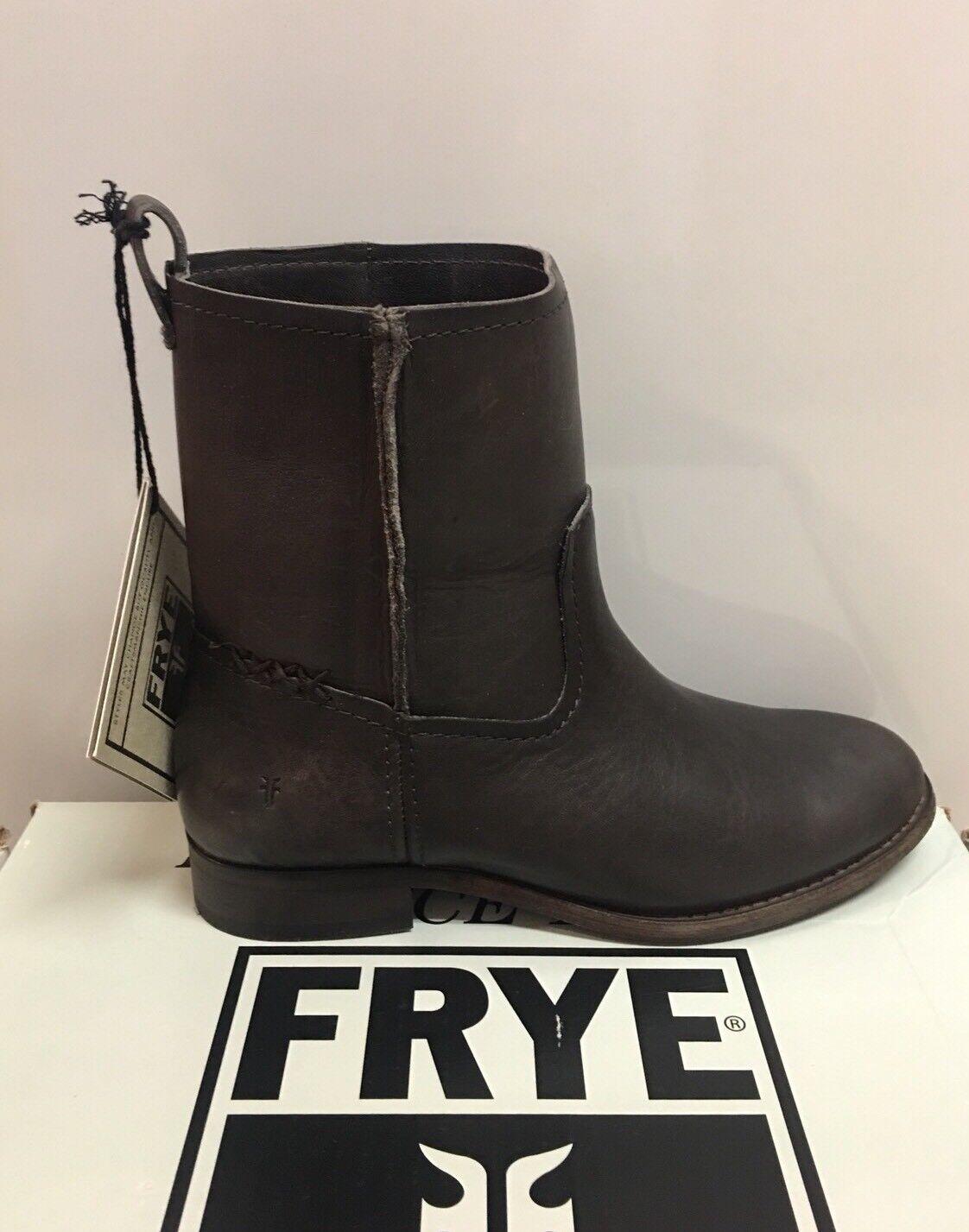New - Women's Frye Cara Cara Cara Short Smoke Leather Boots Size 7 770d53