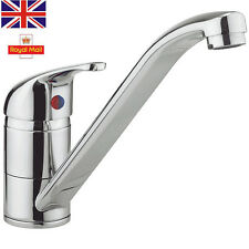 Single Lever Kitchen Sink Mixer Tap Taps With Swivel Spout Solid ...