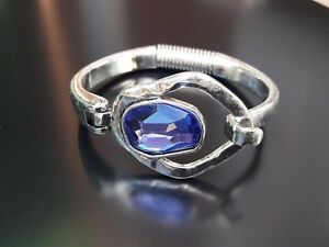 Belle Pulsera Zamak Piedra Cristal Azul Bisuteria Abalorios Pulseras (mep-01) Clair Et Distinctif
