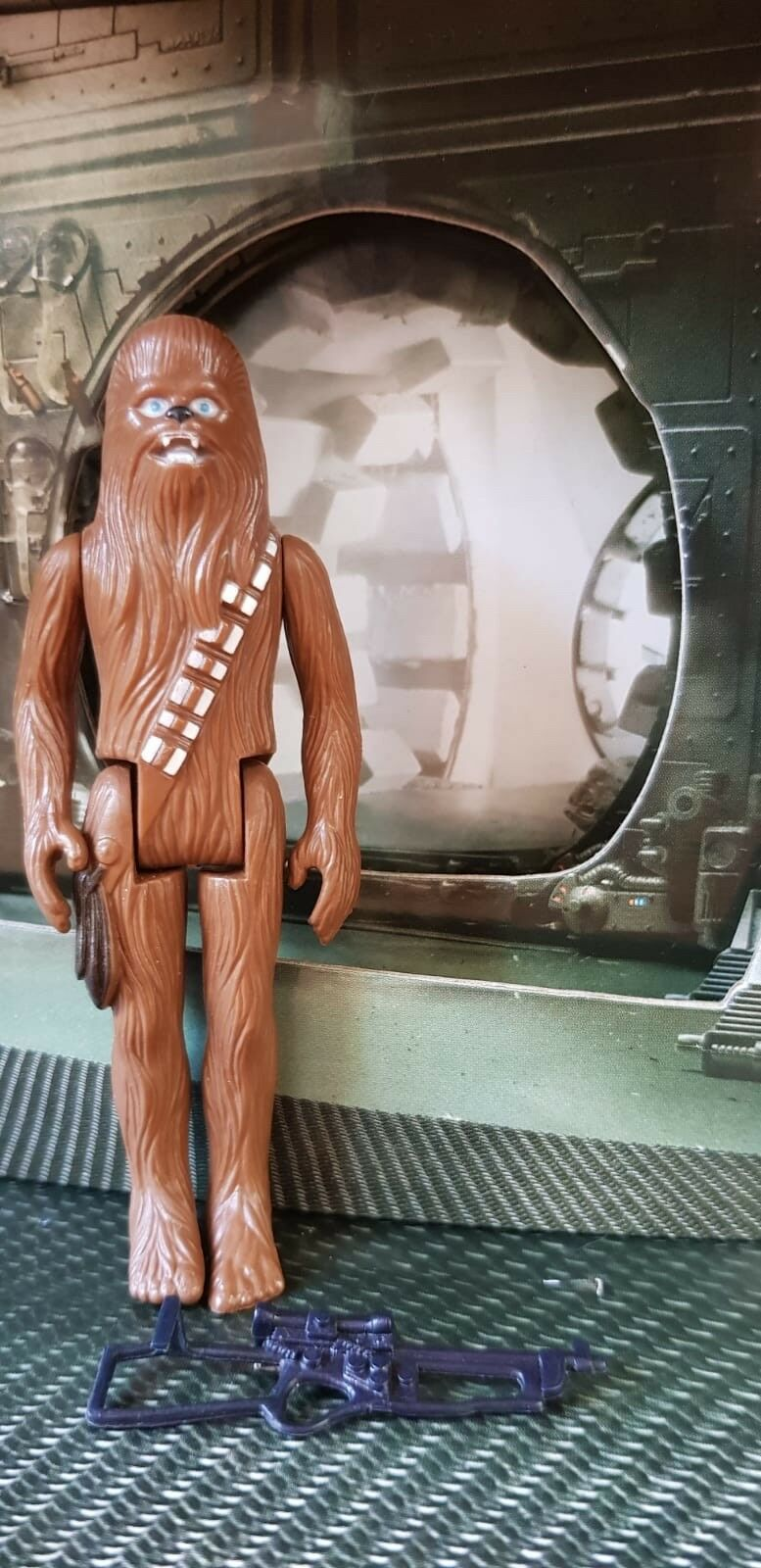 COMPLETE vintage star wars wars wars Chewbacca With Original Weapon No Coo 6fe114