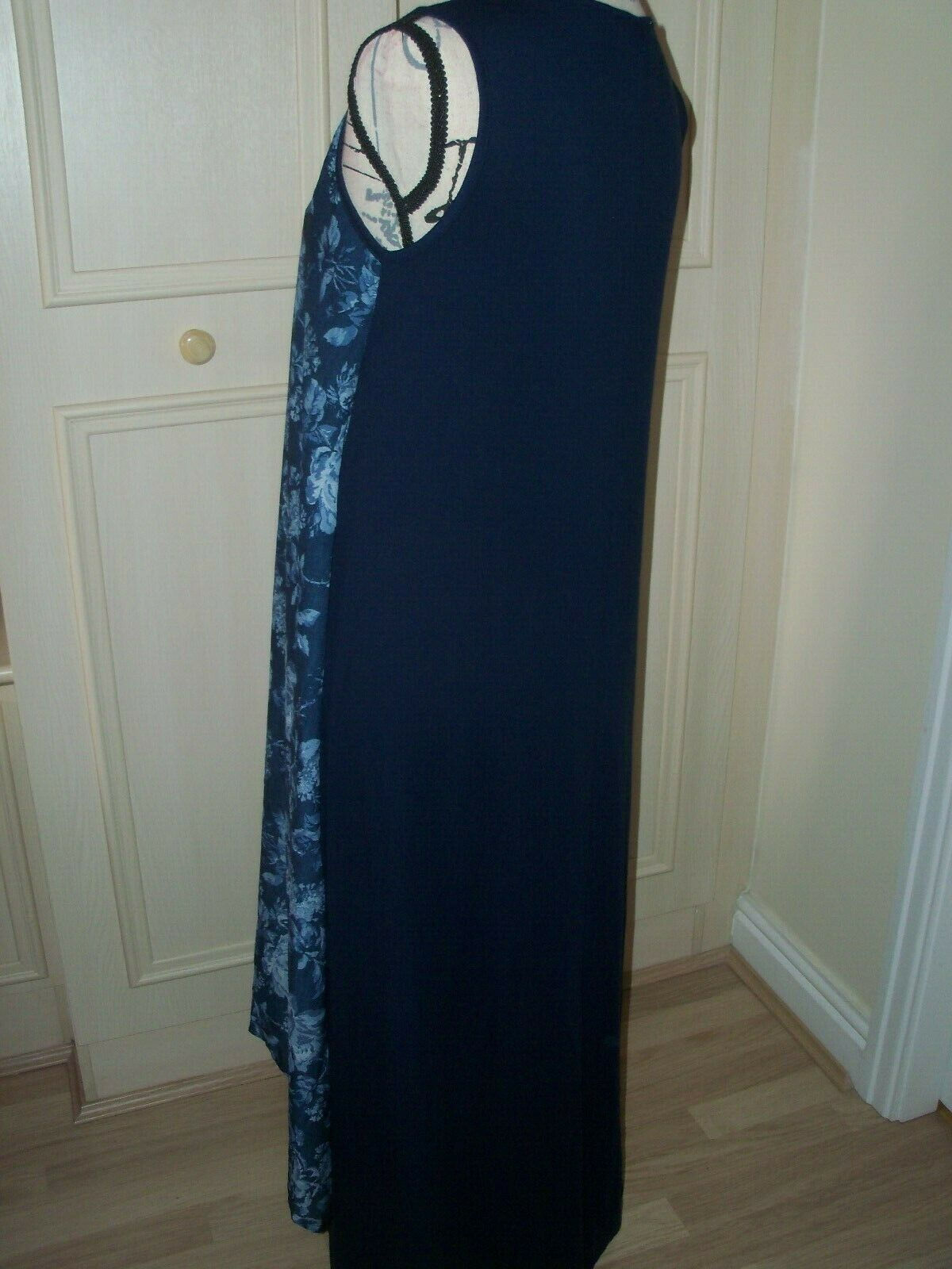 NEW JOIN JOIN JOIN CLOTHES Maxi Dress Navy with Floral overlay Size UK Small 24c9bd