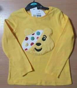 New-Pudsey-Fluffy-Sequin-Top-Long-Sleeve-Children-In-Need-BBC-3-4-Years