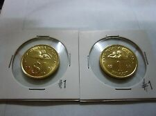 "MALAYSIA  RM1 x 2pcs Coin Variety 1 & 2 (Keris/Songket) 1993 ""UNC"" #1"