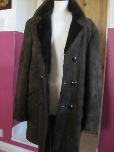 Mens-vintage-M-amp-S-ST-MICHAEL-sheepskin-COAT-JACKET-size-medium-40-034-shearling-borg