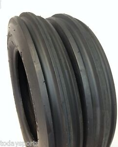 TWO-NEW-5-00-15-TRACTOR-TIRES-5-00x15-3-Rib-F2-Tractor-Farm-2-TIRES-500-15