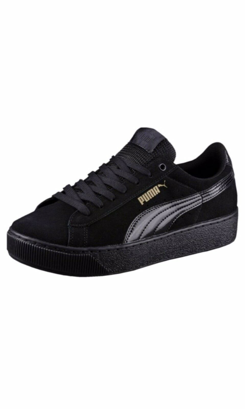 Puma - Black suede 'Vikky' comfort fit trainers The most popular shoes for men and women