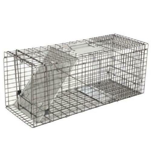 1-Door Rodent Steel Catch and Release 32/'/' Humane Live Animal Trap Cage