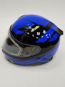 GMAX-Berg-FF-49-Full-Face-Snowmobile-Helmet-Black-Blue-Large