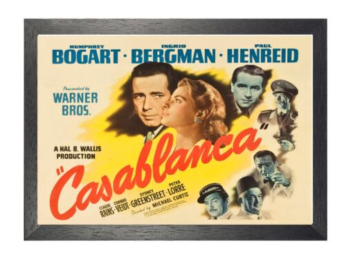 Casablanca Film Stars Hollywood Movie Old Advert Romantic Drama