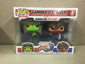 FUNKO POP New Toy Vinyl Figure Gamora vs Strider GAMES: MarvelVCapcom 2PK