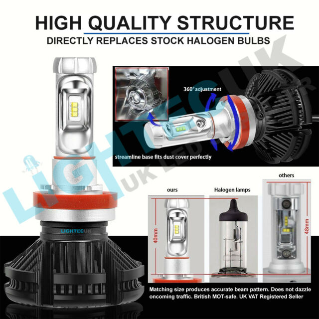 H4 50W Adjustable LED Headlight Bulbs Kit Canbus For BMW Mini R56 R57 07-On