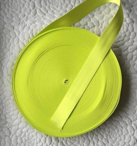 """10 meter  of 2/"""" SEAT BELT STRAP WEBBING  Lime Color Break Strength 2500KG"""