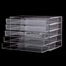 Acrylic Makeup Cosmetic Jewelry Organizer 5 Drawers Clear Large US