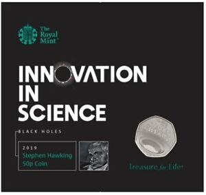 2019 Stephen Hawking 50p Coin Bunc Monnaie Royale Présentation Pack-afficher Le Titre D'origine Jzvircch-07233746-638095224