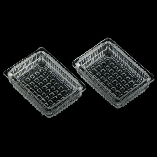 2Pcs1:12Dollhouse miniature accessories resin tray simulation food plate toys CA