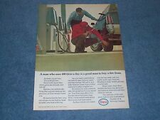 """1971 Enco Vintage Gasoline Oil Ad """"A Man Who Sees 400 Tires A Day..."""""""