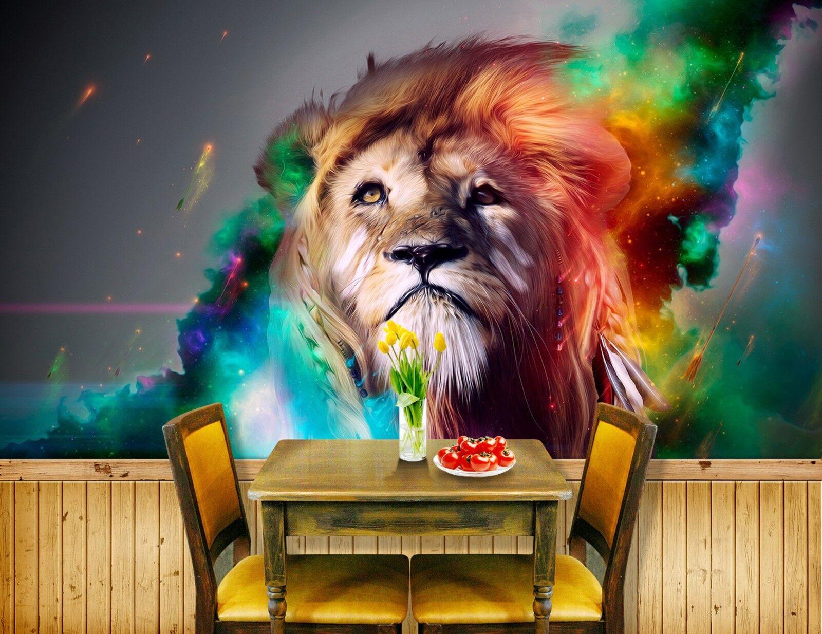 3D Gemalter Löwe Flamme 893 893 893 Tapete Wandgemälde Tapeten Bild Familie DE Lemon | Exquisite Verarbeitung  28f796