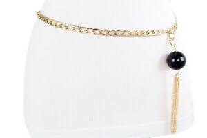 Women Belt Hip Waist Silver Chain Links Tassel Fringe Fashion Cool Fancy XS S M