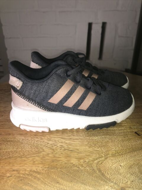 Adidas Kids Racer TR Toddler Girls 7 Blue Pink Gold Running Shoe Sneaker