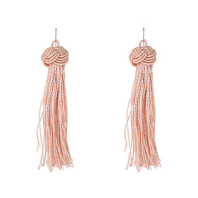 NEW Basque A69686BA/BLUSH Knot Just Another Tassel Earring Blush