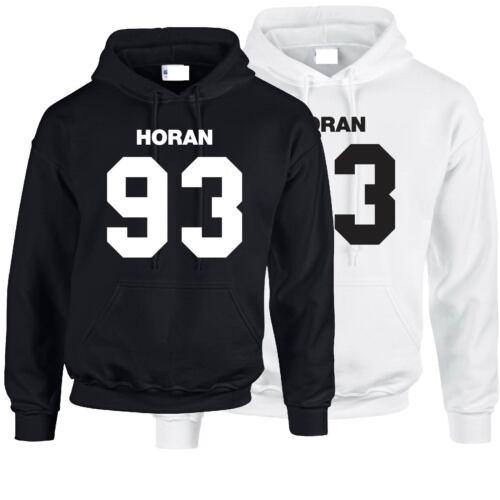 Niall Horan 93 Felpa con Cappuccio Felpa Top One Direction Harry Styles Xmas regalo di Natale