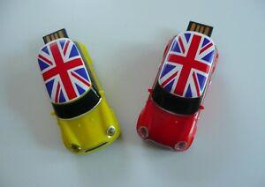 Mini Cooper Rouge Clé Key Usb Voiture Auto Flash Drive English 32gb