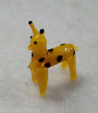 x Giraffe MINIATURE GLASS FIGURINE art mini tiny animal world africa diorama zoo