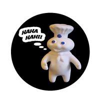 Pillsbury Doughboy Magnet Mirror Pin Back Button. You Choose