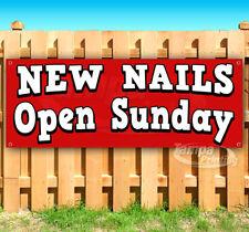 New Nails Open Sunday Advertising Vinyl Banner Flag Sign Many Sizes Salon