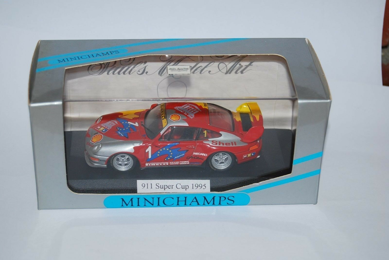 MINICHAMPS PORSCHE 911 SUPERCUP 1995 VIP CAR 430956501 NEUF BOITE NEW BOX 1 43